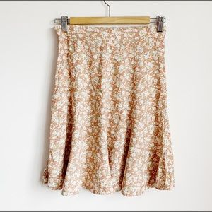 ultra 90s pastel rose print high waist mini skirt